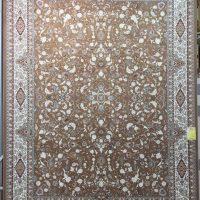 فرش 1000 شانه گل برجسته نقشه افشان اصفهان زمینه نسکافه ای