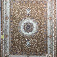 فرش 1000 شانه گل برجسته نقشه الماس زمینه نسکافه ای