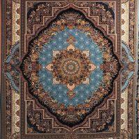 فرش 700 شانه نقشه بهشت زمینه آبی