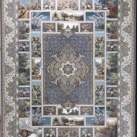 فرش 1200 شانه لایت نقشه چهارفصل زمینه طوسی
