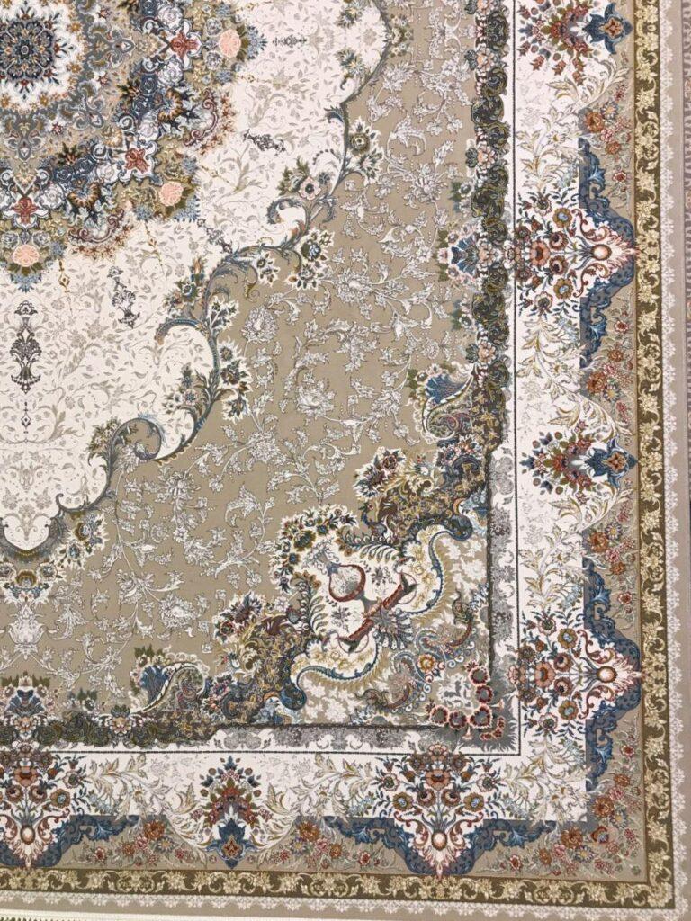 فرش 1200 شانه گل برجسته نقشه هنگامه زمینه فیلی