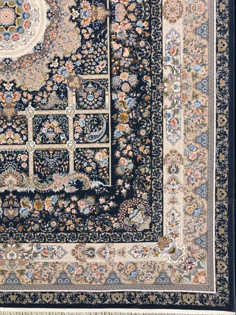 فرش 1200 شانه گل برجسته نقشه خانه رویایی زمینه کاربنی