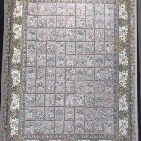 فرش 1200 شانه لایت نقشه خشتی نادیا زمینه نقره ای