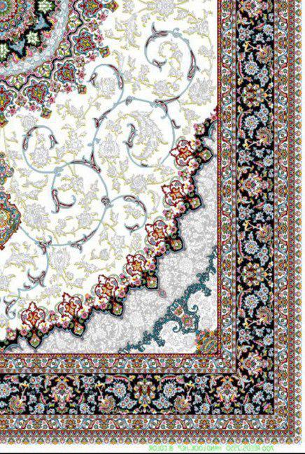 فرش 700 شانه نقشه اصفهان زمینه کرم