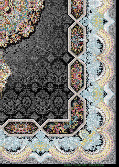 فرش 700 شانه نقشه هالیدی زمینه سرمه ای
