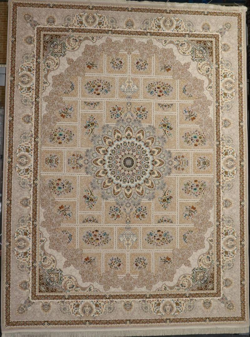 فرش خشتی زمینه نقره ای
