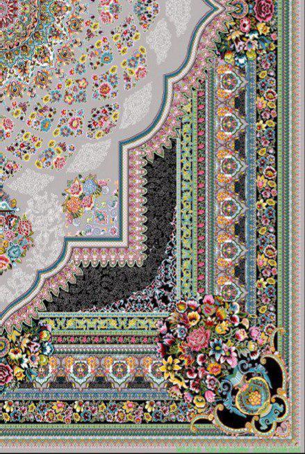 فرش 700 شانه نقشه لوکس زمینه فیلی