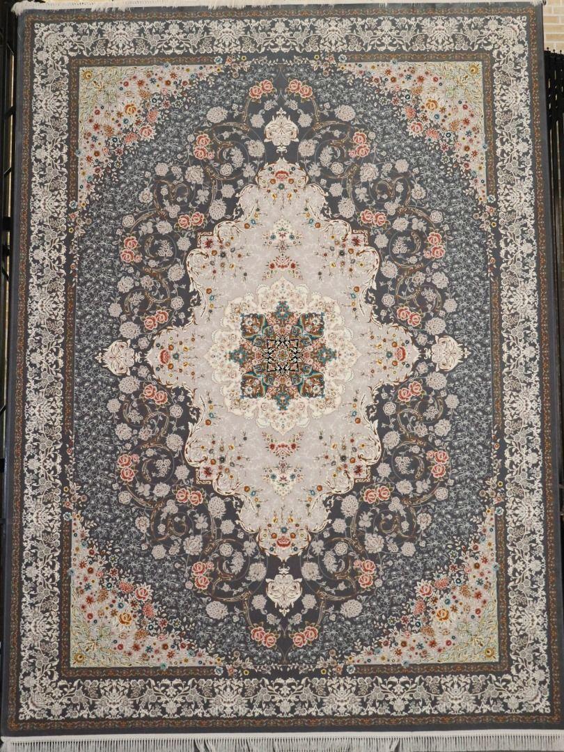 فرش ناوک زمینه ذغالی