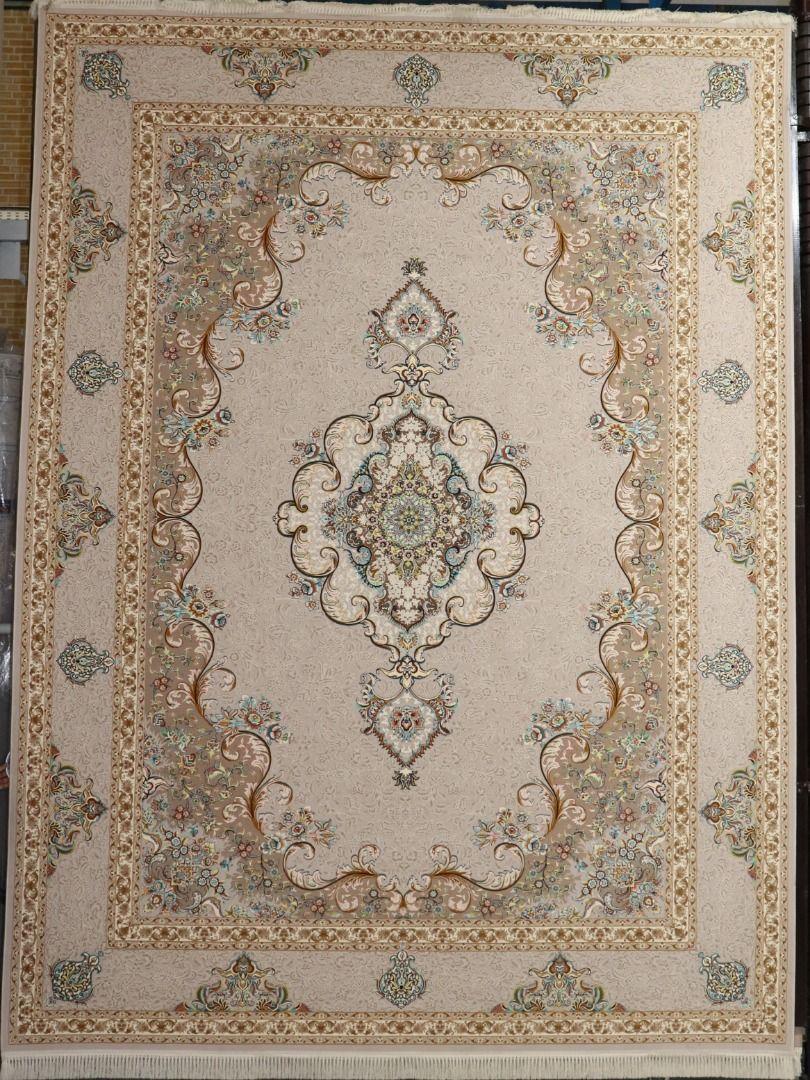 فرش سپهر زمینه نقره ای