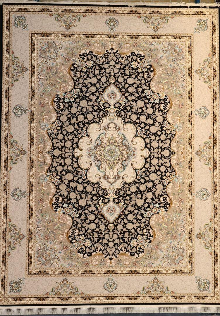 فرش سپهر زمینه سرمه ای