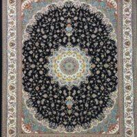 فرش 1200 شانه نقشه اصفهان زمینه سرمه ای