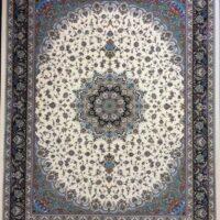 فرش 1200 شانه نقشه اصفهان زمینه کرم