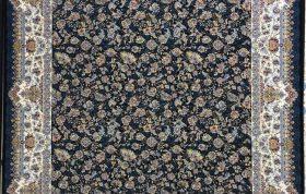 فرش 1200 شانه نقشه افشان مروارید زمینه سرمه ای