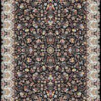فرش 1200 شانه نقشه بنفشه زمینه سرمه ای