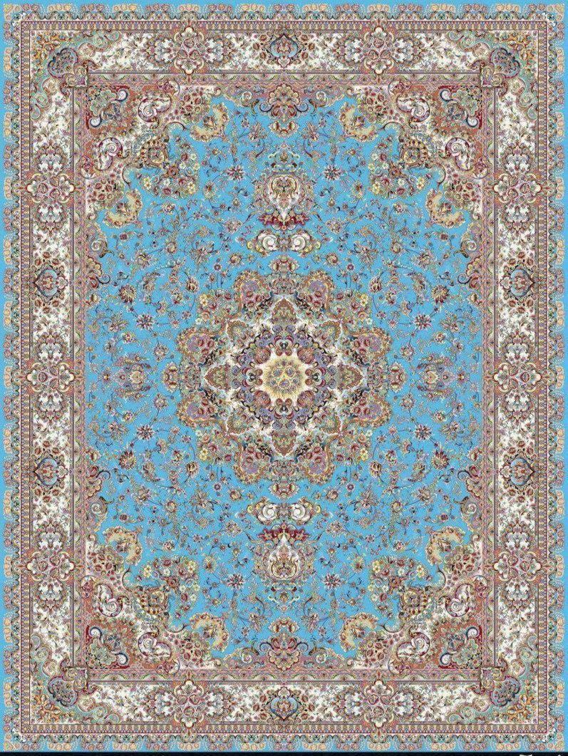 فرش 1200 شانه نقشه ثنا زمینه آبی