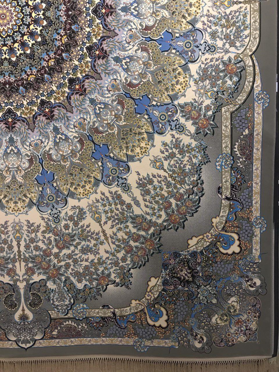 فرش 1200 شانه نقشه جواهر زمینه فیلی