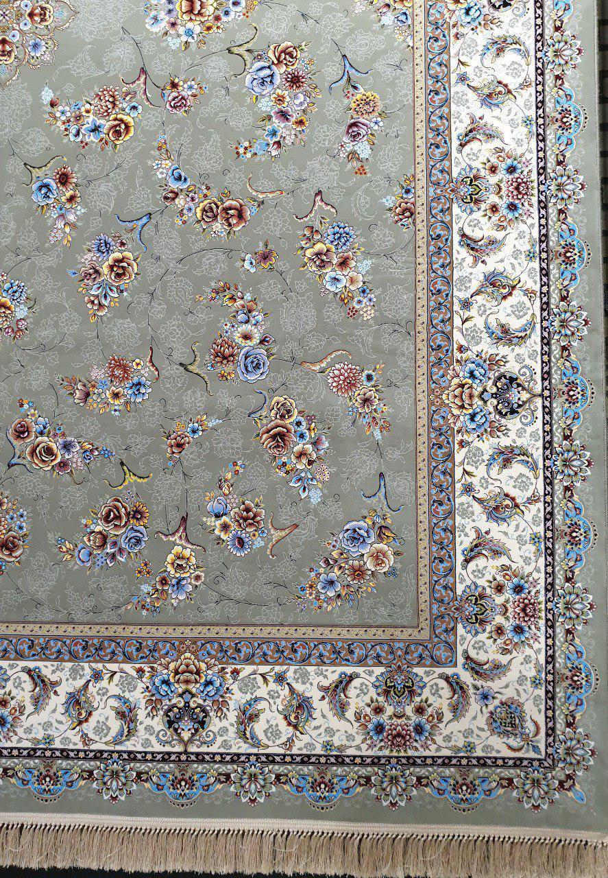 فرش 1200 شانه نقشه گلستان زمینه فیلی