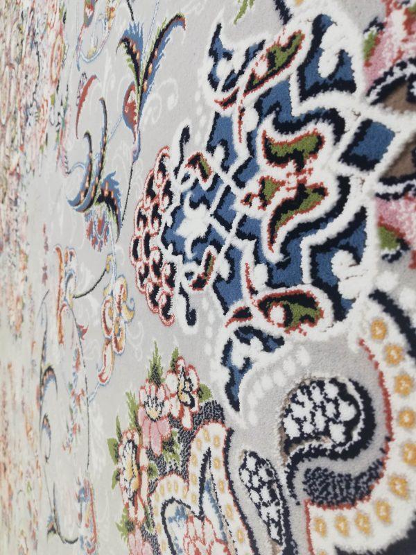 فرش 700 شانه گل برجسته نقشه میخک زمینه فیلی