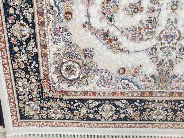 فرش 700 شانه گل برجسته نقشه رستا زمینه فیلی