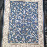 فرش 700 شانه گل برجسته نقشه آیناز زمینه آبی