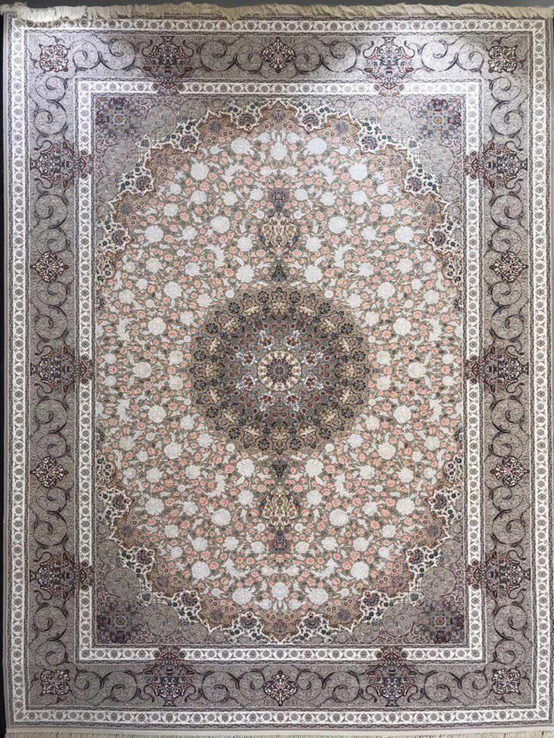 فرش 1200 شانه گل برجسته نقشه گلشید زمینه فیلی