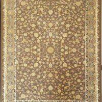 فرش 1200 شانه گل برجسته نقشه نازگل زمینه شکلاتی