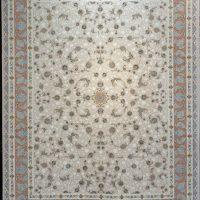 فرش 1200 شانه گل برجسته نقشه پروین زمینه فیلی حاشیه پیازی