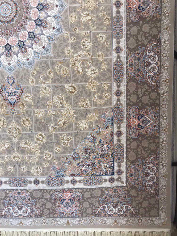 فرش 1200 شانه گل برجسته نقشه پیچک زمینه فیلی