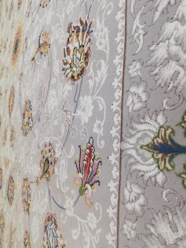 فرش 700 شانه گل برجسته نقشه رویال زمینه فیلی