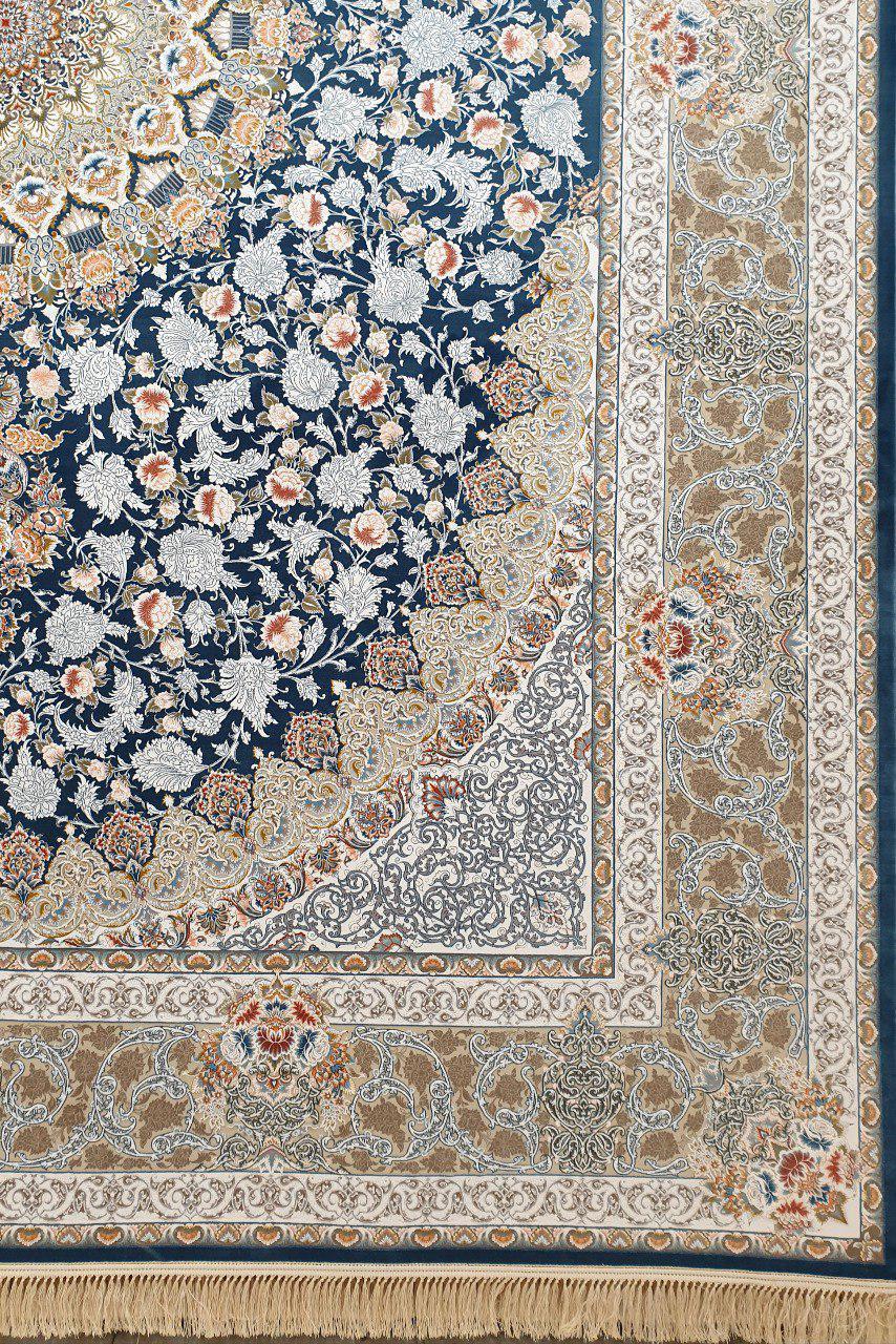 فرش 1200 شانه گل برجسته نقشه یکتا زمینه اطلسی