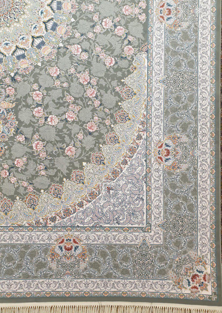 فرش 1200 شانه گل برجسته نقشه یکتا زمینه متالیک