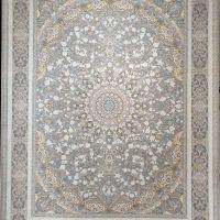 فرش 1500 شانه گل برجسته نقشه آلتون زمینه سیلور