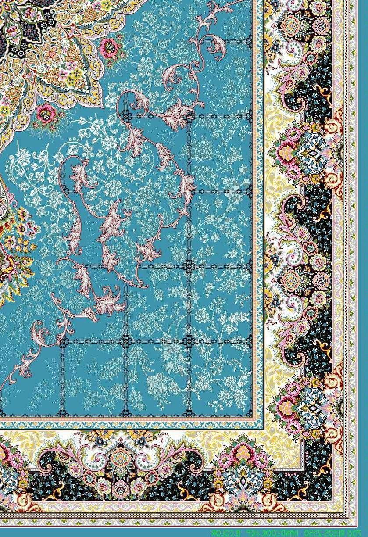 فرش 700 شانه نقشه هیوا زمینه آبی