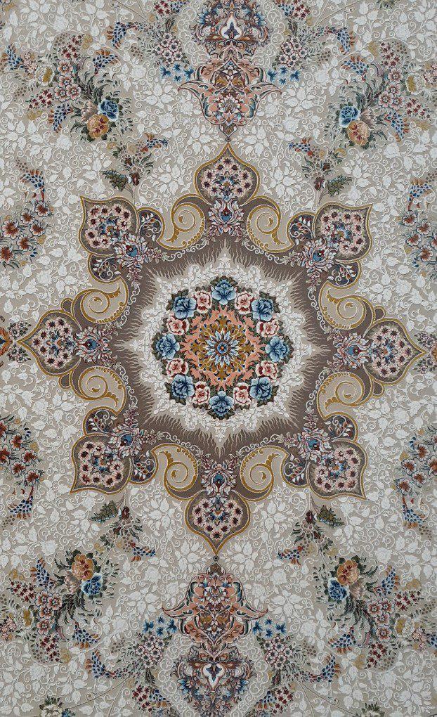 فرش 1200 شانه گل برجسته نقشه پگاه زمینه فیلی
