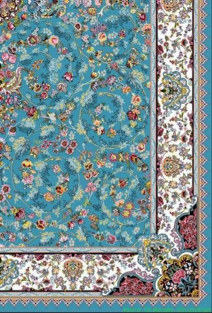 فرش 700 شانه نقشه پرنسس زمینه آبی