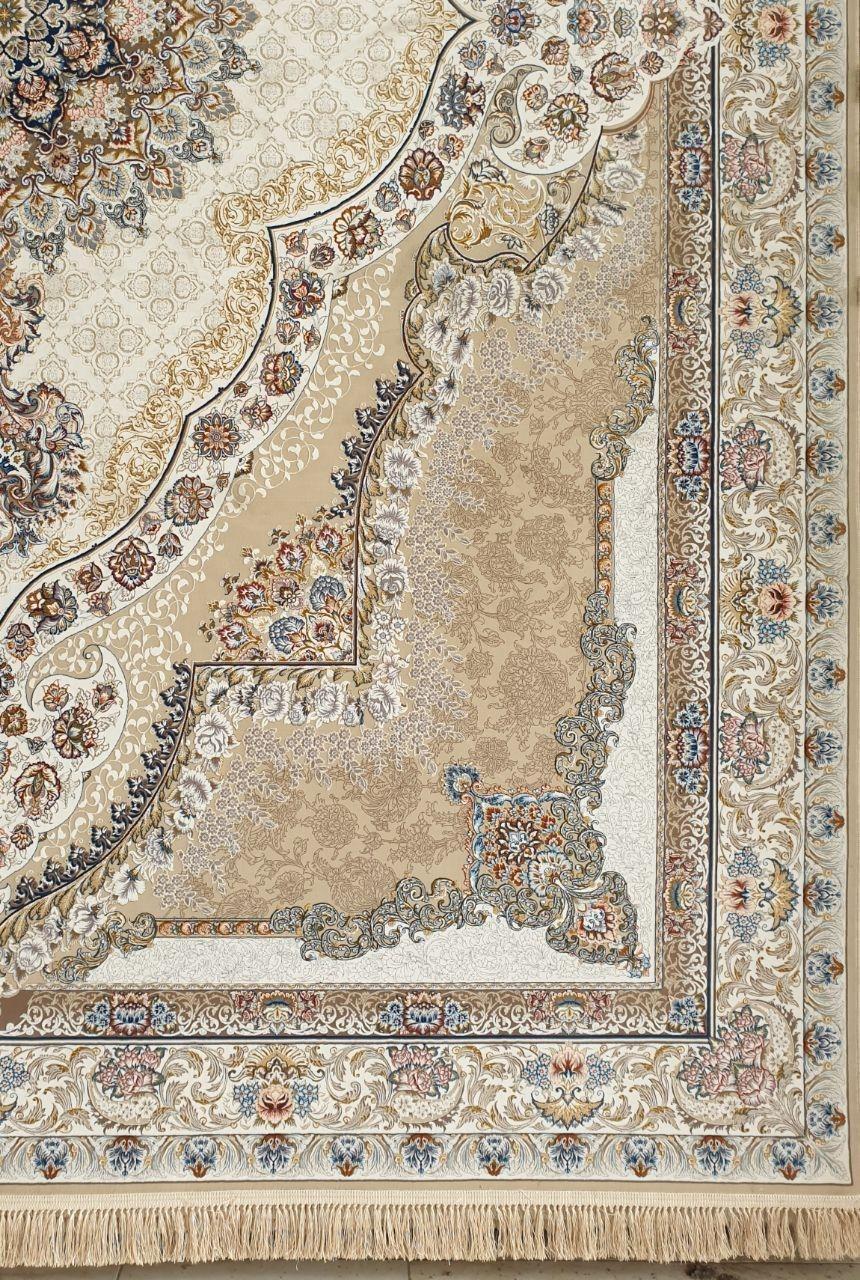 فرش 1200 شانه گل برجسته نقشه رستا زمینه دلفینی