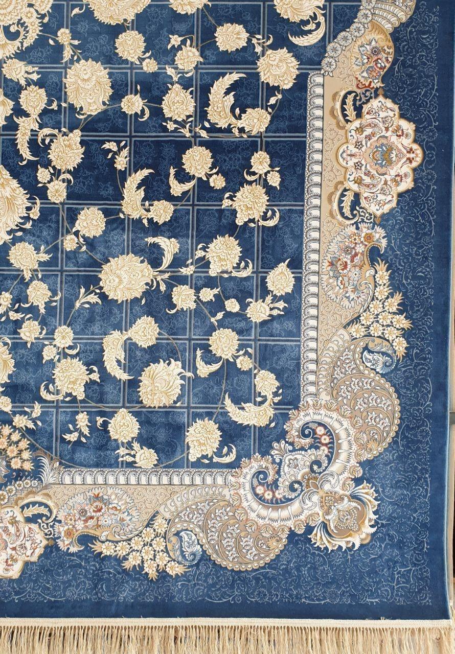 فرش 1200 شانه گل برجسته نقشه ترنم زمینه اطلسی