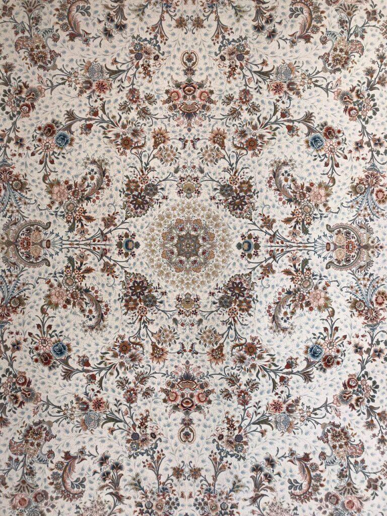 فرش 1200 شانه طرح باغ گل