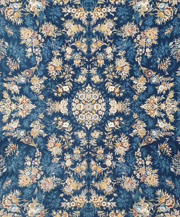 فرش ماشینی زمینه آبی