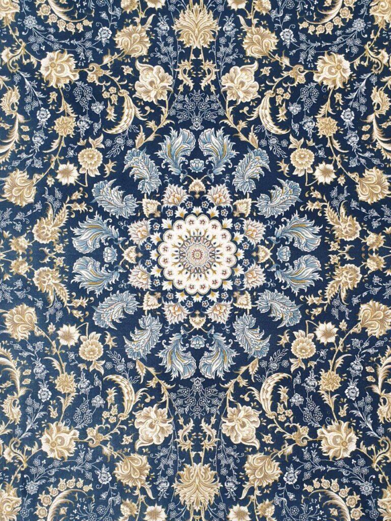 فرش 1200 شانه گل برجسته نقشه صوفیا زمینه کاربنی