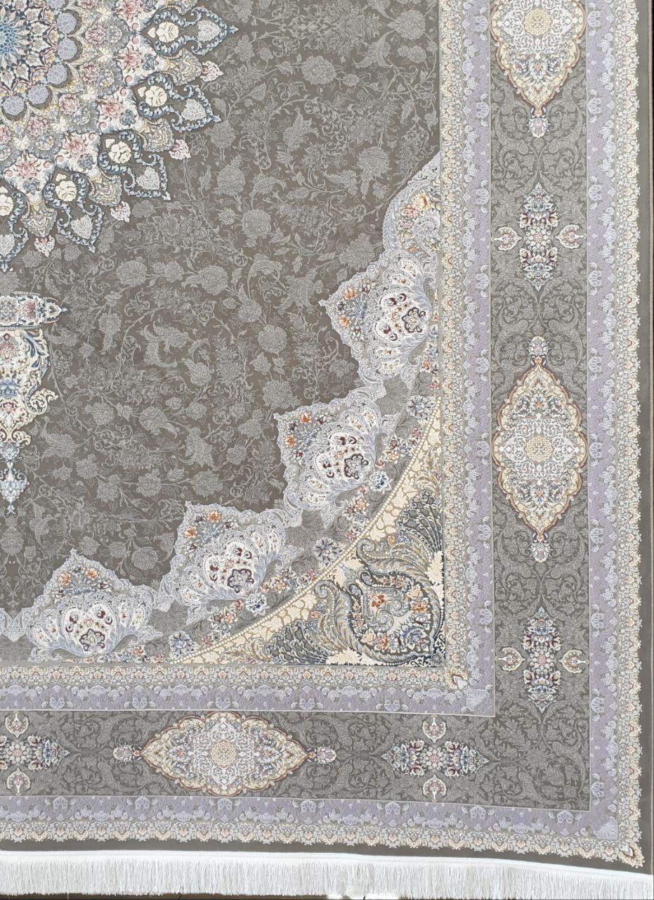فرش 1500 شانه گل برجسته نقشه آلتون مدرن زمینه متالیک