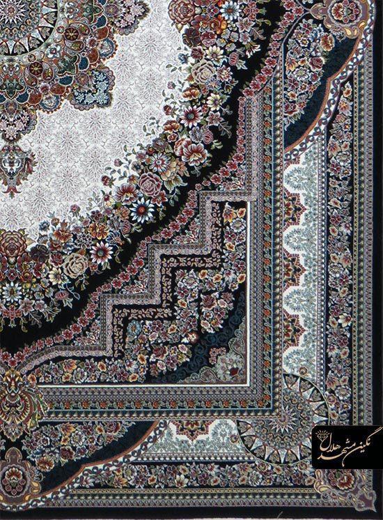 فرش 700 شانه نقشه بهشت کد 12005 زمینه سرمه ای