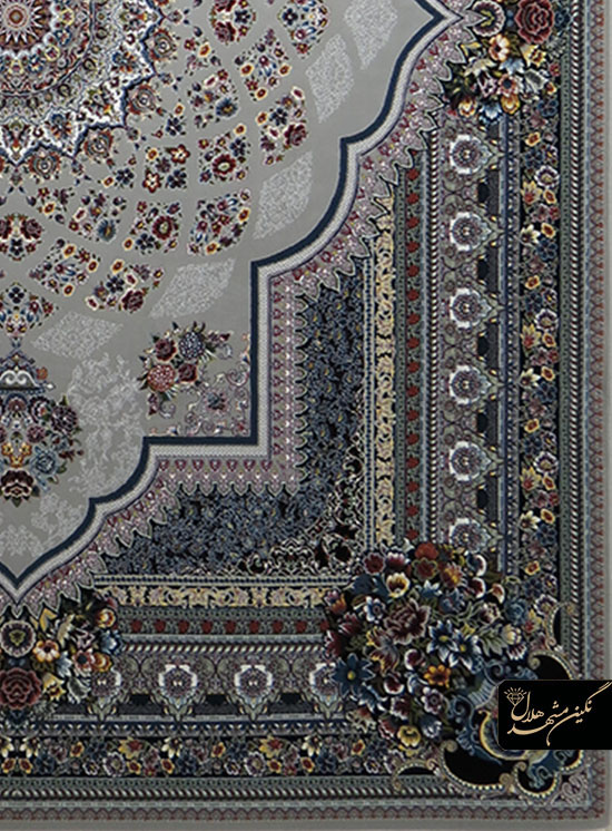 فرش 700 شانه نقشه لوکس کد 12009 زمینه فیلی