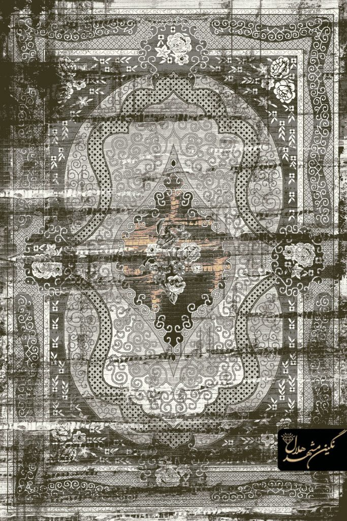 فرش وینتیج کد 5002 زمینه دودی