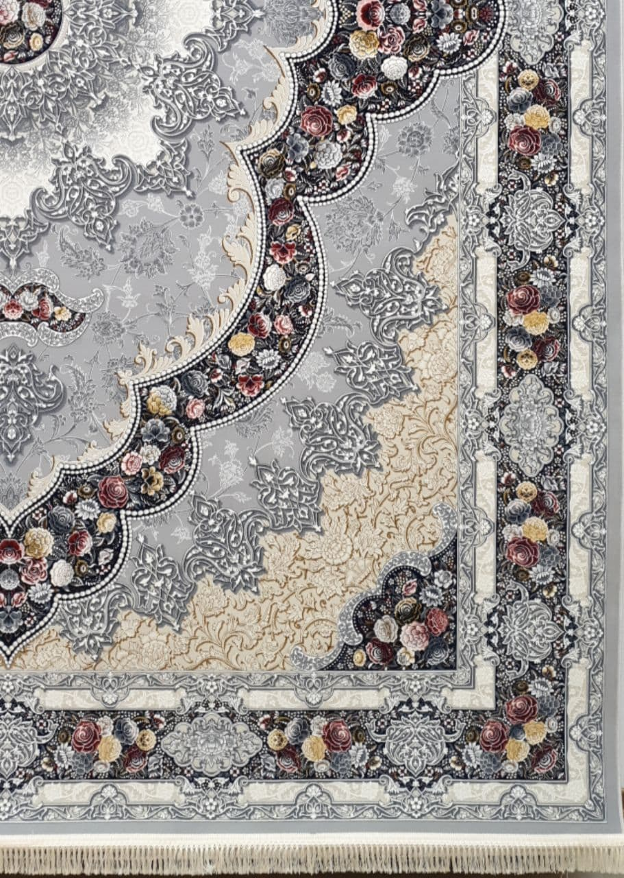 فرش 1200 شانه برجسته نقشه آروانا زمینه دلفینی
