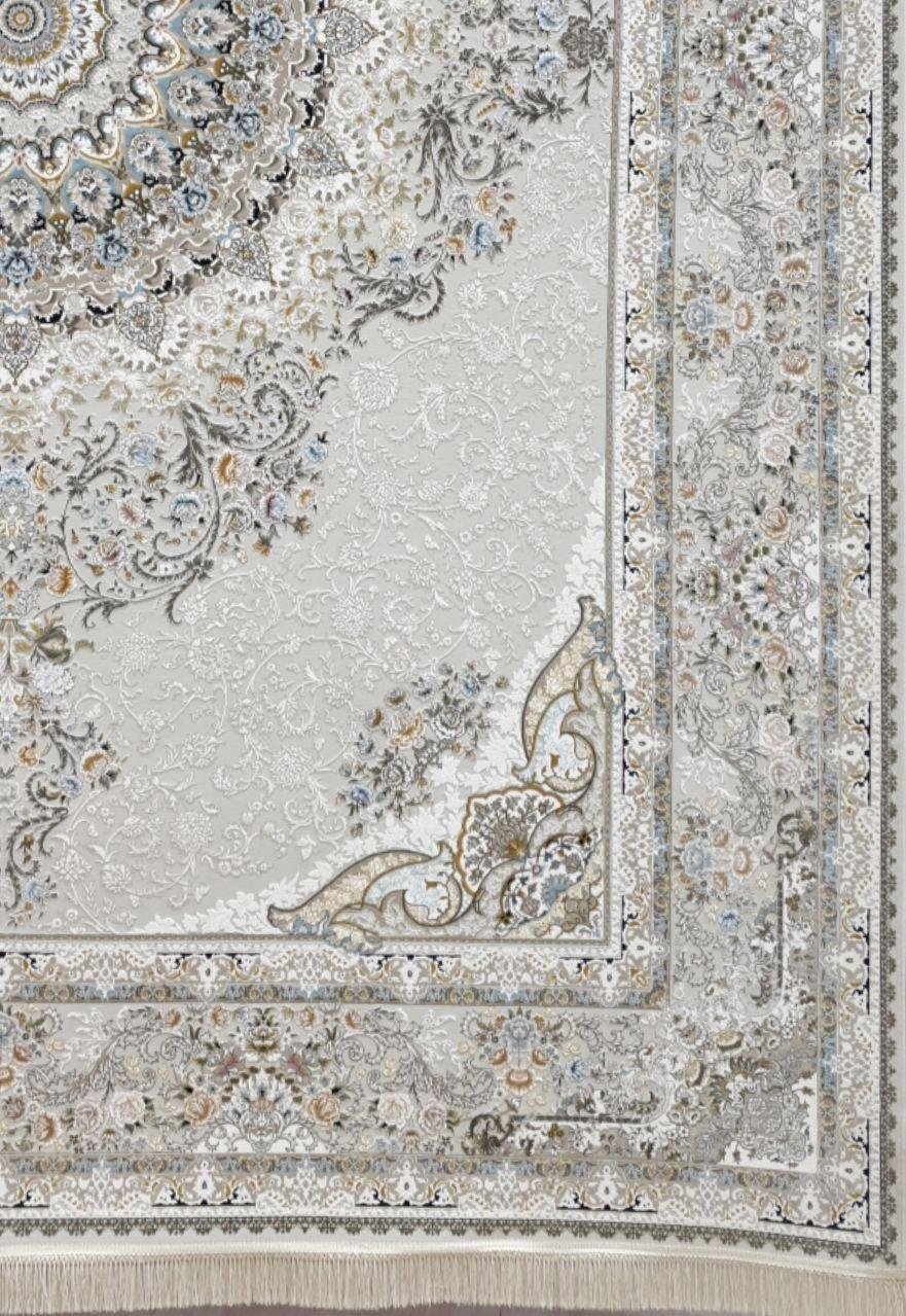فرش 1500 شانه گل برجسته نقشه رایحه زمینه سیلور