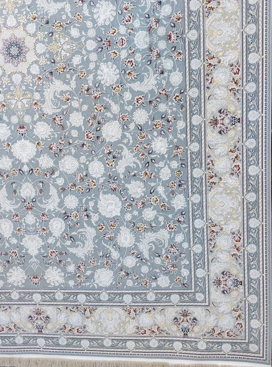 فرش 1500 شانه گل برجسته نقشه رکسانا زمینه فیلی