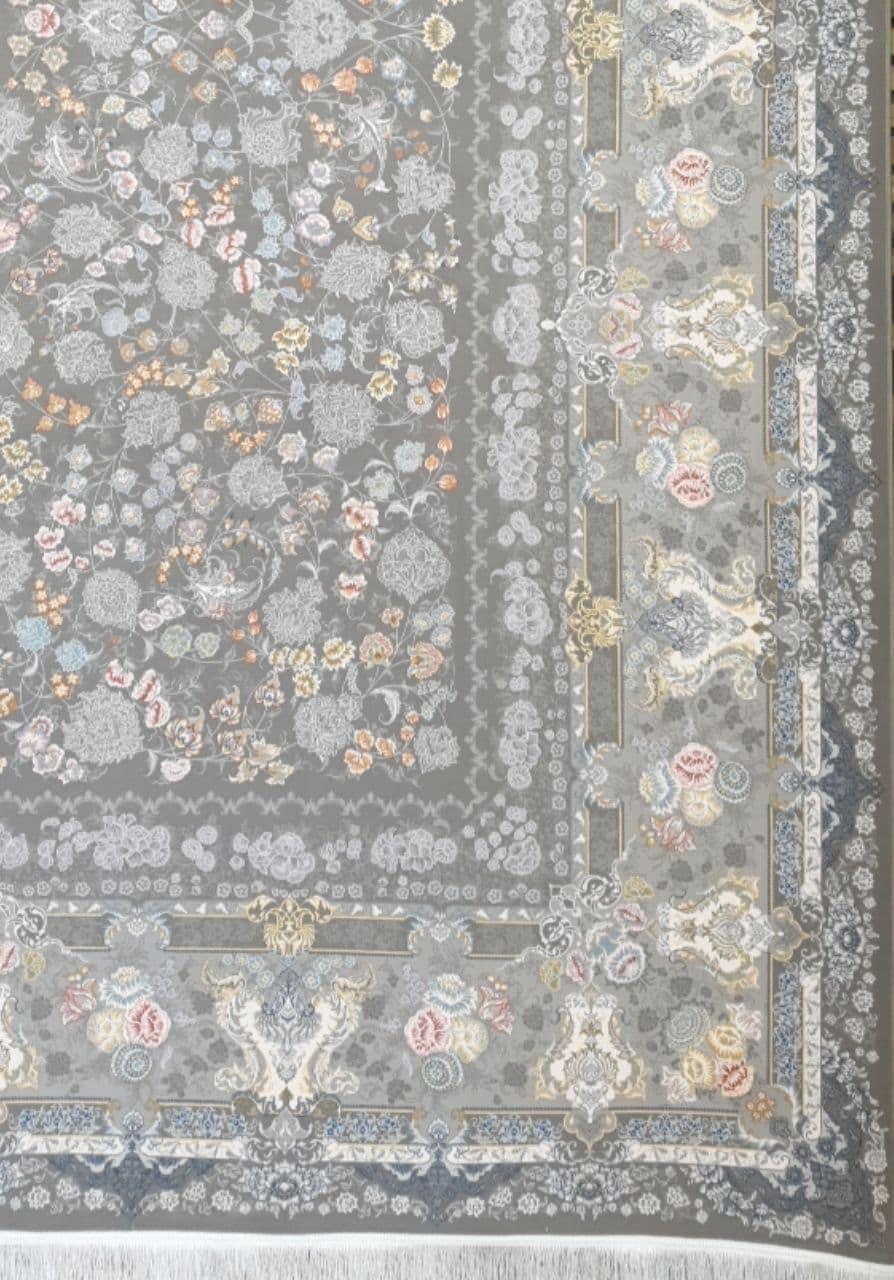 فرش 1200 شانه گل برجسته نقشه معراج زمینه متالیک